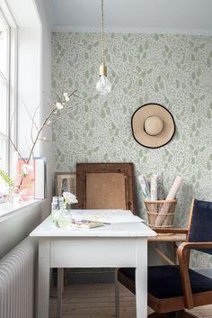 Office Wallpaper, Interior Wallpaper, Home Office, Office Decor, Home Interior, Interior Design, Simple Furniture, Office Makeover, Comfort Zone
