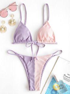 Vestidos Plus Size, Mini Vestidos, Bikini Swimwear, Thong Bikini, Swimsuits, L And Light, Light Purple, String Bikinis, Blazers