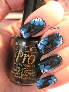 Blue flowers - Nail Art Gallery by NAILS Magazine