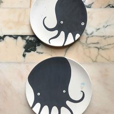 Octopus Plates via Slab Roller, Pottery Lessons, Pottery Handbuilding, Pottery Tools, Ceramic Studio, Happy Sunday, Octopus, Decorative Plates, Clay