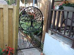 Tree of Life Gate - Steel Impressions Indoor Gates, Entry Gates, Entrance, Burglar Bars, Security Gates, Gate Design, Farm Gardens, Home Design Plans, Garden Gates