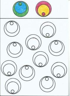 30 Fichas para imprimir de Desenhos para preencher círculos - Aluno On Five Senses Preschool, Preschool Learning Activities, Motor Activities, Preschool Worksheets, Preschool Activities, Kids Learning, Kindergarten Classroom, Pre School, Special Education