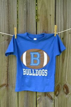 Personalized Initial Football Applique Shirt or Onesie on Etsy, $25.00