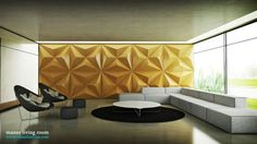Casual Modern Living Rooms: Black Yellow White Living Room Textured Wall ~ Living Room