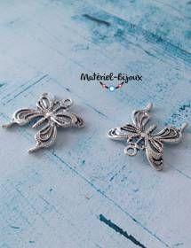 Des grandes breloques papillons pour vos bijoux fantaisie sur le thème de la nature.