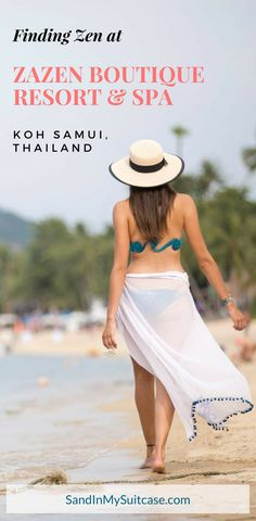 """Located on the north coast of Thailand's Koh Samui, Zazen Boutique Resort & Spa prides itself on offering guests a peaceful, rejuvenating stay (Zazen means """"to find inner peace"""" in Japanese). And with just 26 luxury bungalows, lush gardens, a chill beach and a lovely outdoor spa, Zazen does just that! Read our review on this delightful boutique resort. #KohSamui #Zazen"""