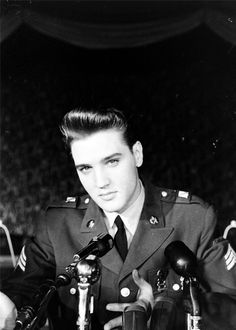 A handsome young Elvis Presley..