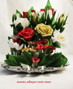Shift+R improves the quality of this image. Shift+A improves the quality of all images on this page. Chocolate Flowers, Chocolate Bouquet, Candy Flowers, Candy Bouquet, Table Decorations, Handmade, Crafts, Home Decor, Image