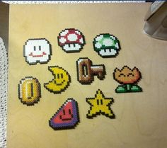 The Key item from SNES-game Super Mario World, 16-bit bead sprite on Etsy, $4.25 CAD