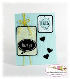 Stampin Up Just Saying Stamp Set card by sandi @ www.stampingwithsandi.com - details here:  http://stampingwithsandi.com/stampin-uo-just-saying/