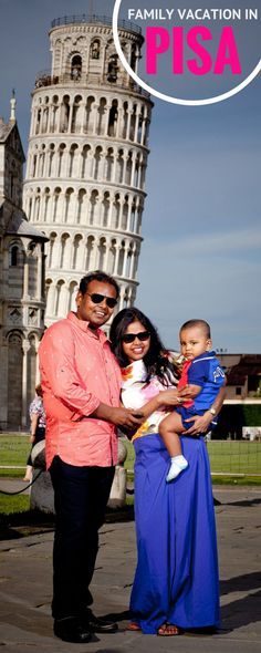 Pisa, Tuscany is a great location for  short family vacation. This lovely family used an iconic piece of Italian architecture as the backdrop for these remarkable photos... Leaning Tower, Piazza dei Miracoli, Duomo and more... Check it out:)