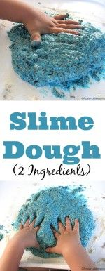 Slime Dough 2 Ingredients from PowerfulMothering.com