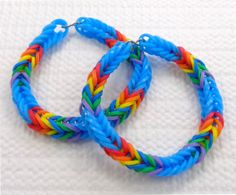 Rainbow Dash Inspired Friendship Bracelets, My Little Pony Rainbow Loom Stretchy Bracelets, My Little Pony Friendship Bracelets