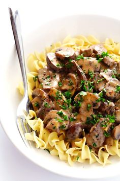 This 30-minute easy beef stroganoff recipe is comfort food at its best!