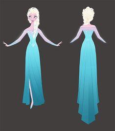 Elsa's Snow Queen Dress (without the cape) - Frozen concept art by Brittney Lee