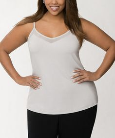 Loving this Dove Gray Illusion Cami - Plus on #zulily! #zulilyfinds