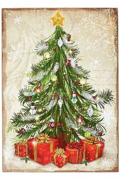 Christmas Tree with Gifts Plaque from Home  Decorators