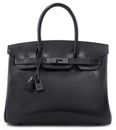 A LIMITED EDITION 30CM BLACK CALFBOX LEATHER SO BLACK BIRKIN BAG Christie's Handbags and Accessories