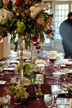 Birthday Celebrations with purple tablescapes!  Food, Earth, Friends, Wine: Abundance