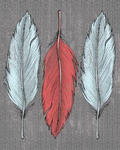 De pluma Lámina por Wesley Bird   Society6