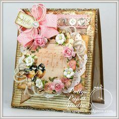 Shabby Birds and Flowers Card 1