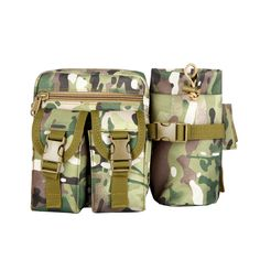 Tactical Waist Bag Pouch Haversack Messenger Bag With Bottle Pack For Camping Hiking