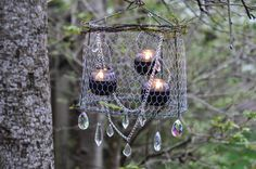 Rustic Upcycled Outdoor Chandelier