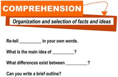 Comprehension [critical thinking skills] | Flickr - Photo Sharing!