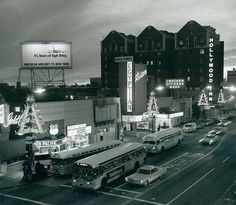 The Egyptian Theater on Hollywood Boulevard at Christmastime (1966)