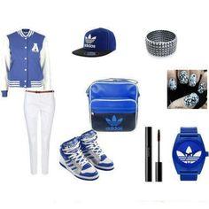 bleu addidas <3