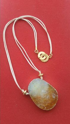 Agate and Cord Pendant