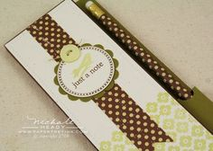 Little Skinny Notepad Cover with Pen/ Pencil Holder and Pocket in back