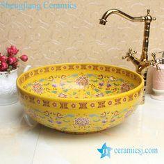 Fancy lord palace style ceramic cupboard bath wash basin - shengjiang  ceramic  factory   porcelain art hand #basin #washsink