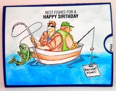 Our son loves to fish, so I made this double slider card for him. I had fun coloring it. There is a pocket on one of the slider that holds his money gift. Happy Birthday Wishes Sister, Beautiful Birthday Wishes, Son Birthday Quotes, Birthday Wishes Funny, Happy Birthday Messages, Happy Birthday Images, Happy Birthday Greetings, Birthday Greeting Cards, Birthday Pictures