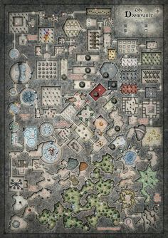 The Doom Vault, one of the largest dungeons I've ever seen! Can't wait to run my players thru this!