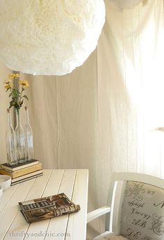 Thrifty and Chic: Coffee Filter Hanging Light