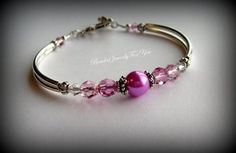 Gift Set of FOUR Fuchsia Pearl Bracelet Hot by beadedjewelryforyou, $100.77