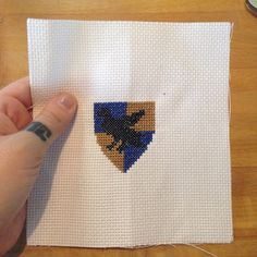 Wizardcraft: Cross-Stitch Your Hogwarts House Badge. Pattern and tutorial by JENN NORTHINGTON