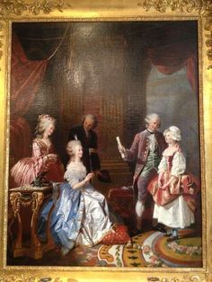 A painting of Marie Antointette and the princesse de Lamballe with Gluck and Salieri by Charles Année. 1837. source: le boudoir de marie antoinette
