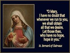 ''If we suffer, we shall also reign with Him' (II Tim. 2.12). St. Bernard of Clairvaux