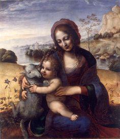 Madonna and Child with Lamb / Madonna con il Bambino e l'agnellino / La virgen y el Niño con un corderito // 1502-1505 / 1500-1520 // Pittore leonardesco // Pinacoteca di Brera