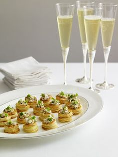 Champagne chicken vol-au-vents