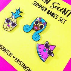 Summer Babes Set | Enamel Pins