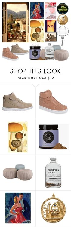 """""""Tour of love"""" by didesi ❤ liked on Polyvore featuring NIKE, Moon Juice, Keter, Marmont Hill, Religion Clothing, Aubade, Pottery Barn and kitchen"""