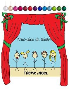 Everything you need for your students to write, present and evaluate short Christmas plays or puppet plays. This item includes: Three sce. Christmas Drama, Christmas Plays, Christmas Concert, French Christmas, Teaching French Immersion, I Love School, School Stuff, Drama Activities, Drama Class