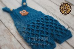 Crochet Waffle Gaufre Dress/Overalls/Romper by Paloma Perez
