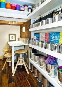 Keep It Streamlined By Using The Same Containers Throughout Kids Art Room Under Stairs