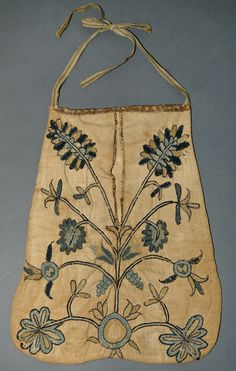 Pocket c1750-1800 America Materials: Wool; Linen; Silk Museum Object Number: 1958.2051