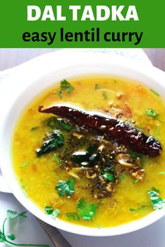 This home style dal tadka recipe, is easy to make and also requires very less labour when you are craving for simple homey meal. Lentil Curry, Green Chilli, Indian Curry, Curry Leaves, Curry Recipes, Vegetarian Food, Lentils, Cravings, Cooker