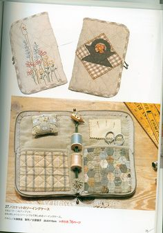 """girlyme:  """" sewing needle book (by shebrews)  """""""